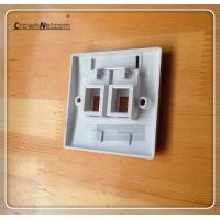 Buy cheap Dual port RJ45 Face Plate 2ports Network Face Avant For Networking system from wholesalers