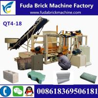 Buy cheap QT4-18 customized automatic hydraulic concrete block making machine production line from wholesalers