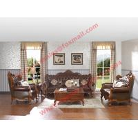 Buy cheap European Classic Solid Wooden Carving Frame with Italy Leather Upholstery Sofa product