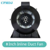 Buy cheap Industry IP44 639CFM Low Noise High Temperature 8 Inch Duct Booster Fan product
