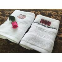 Buy cheap Durable Hotel Towel Set , 100% Cotton And Embroidery Hotel Face Towel With Satin Stripe product