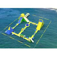 Buy cheap Amusement Games Giant Inflatable Water Park 0.9mm Plato PVC Tarpaulins Customized from wholesalers