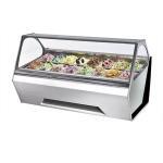 Buy cheap 16 Pans Ice Cream Display Freezer , Fan Cooling Ice Cream Display Freezer from wholesalers