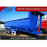 Buy cheap Stone Transport 6mm Side Wall 3 Axle Q345B Tipping Trailer from wholesalers