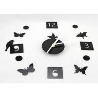 Buy cheap DIY 3D Bird And Butterfly Sticker Reverse Running Wall Clock Decorations from wholesalers