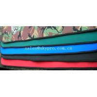 Buy cheap Good flexibility Red / green / black neoprene fabric Roll with polyester coating product