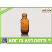 Buy cheap 15ml Amber Boston Round Flat Glass Cough Syrup Bottle from wholesalers