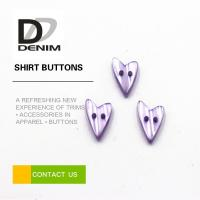 Buy cheap Water Resistant Colored Shirt Buttons Heart Shaped For Women Clothing from wholesalers