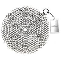 Buy cheap Stainless Steel 316 Wire Mesh Curtain Cast Iron Pan Chainmail Scrubber Round Shape from wholesalers