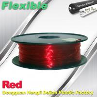 Quality TPU Flexible 3d Printing Filament 1.75 / 3.0 mm Red and Transparent for sale