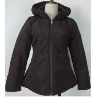 Buy cheap Polyester Black Ladies Light Padded Jacket Fix Hoody Microfiber Padding from wholesalers