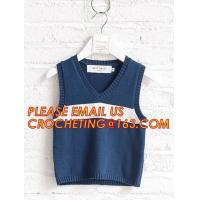 Buy cheap Hot sale sleeveless, hand knit baby boys stylish sweaters, Fashion clothing kids knit vest pattern child sleeveless swea from wholesalers