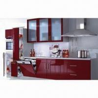 Buy cheap Kitchen Cupboard, UV MDF Kitchen Cabinet, E1 Material from wholesalers