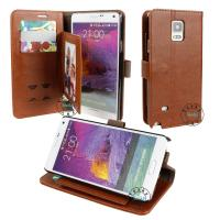Buy cheap PU Leather Wallet Cases Protective Skin  For Samsung note4  the unique design from wholesalers
