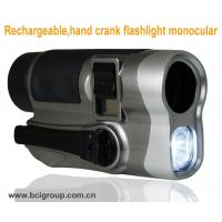 Buy cheap Rechargeable,hand crank flashlight monocular Mobile Phone Chargers ,hand crank flashlight from wholesalers