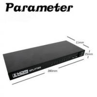 Buy cheap Black Video Splitter One Point Eight 3D Video One Into Eight Out HD 1080P from wholesalers