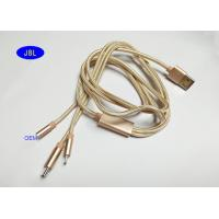 Buy cheap PVC + Braided 3 IN 1 USB AM To Micro , Lighting Type C USB Cable With Spring product