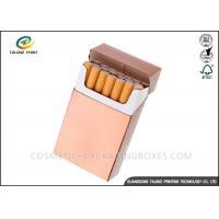 Plain Paper Cigarette Packaging Box UV Varnish Finishing 88*56*23mm Dimension