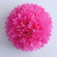 Buy cheap Hot Pink Party Decoration Paper Flower Tissue Paper Pom Poms Balls Craft from wholesalers