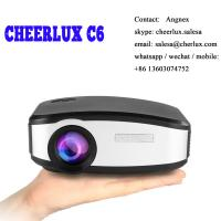 Buy cheap CHEERLUX C6 mini projector HD Native 800*480 1200 lumens led lcd best for home theater from wholesalers