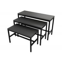 Buy cheap Wooden Panel Metal Frame Garment Display Stands Clothing Display Tables Black Finish from wholesalers