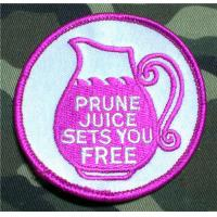Buy cheap Prune Juice Sets You Free Embroidered Patch Iron On from wholesalers
