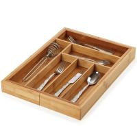 Buy cheap No Plastic Bamboo Kitchen Supplies Utensil Flatware Organizer For Narrow Drawers from wholesalers
