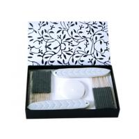 Buy cheap Black / White Ceramic Aroma Incense Burner Gift Sets With Ceramic Incense Holder product