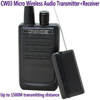 Buy cheap CW03 Micro Wireless Audio Transmitter+Receiver Listening Bug 500M Remote Sound Monitor from wholesalers