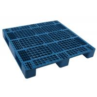 Buy cheap 1200*1000 HDPE Durable 4-way folklift  Injection molded Plastic shipping Pallet with single face racking loading 1000kg from wholesalers