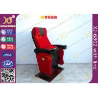 Buy cheap Gravity Seat Return Structure Theatre Seating Chairs Tip Up Arm With Cup Hold from wholesalers