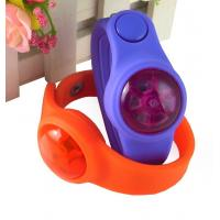 Buy cheap led silicone wrist band with button, flash bracelet; product