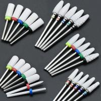 Buy cheap Not Rusty Cuticle Nail Drill Bits Ceramic Material Corrosion / Heat Resistant product
