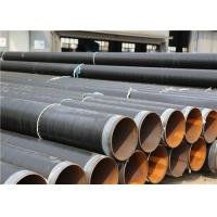 Buy cheap Black 3PE Anti Corrosion Pipe For Transfer Water , Gas / Oil And Other Fluid from wholesalers
