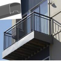 Buy cheap Outdoor Aluminum Hand Railings For stairs , exterior hand railings from wholesalers