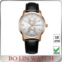 Buy cheap Leather Band Mens Mechanical Automatic Watch With Stainless Steel Case from wholesalers