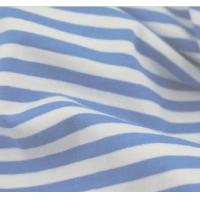 Buy cheap 100% cotton yarn dyed Navy Blue and White stripe fabric from wholesalers