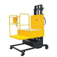 Electric forklift truck scissors type lift platform with a Motorized table
