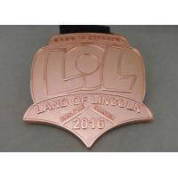 Buy cheap Die Stamping Skate Awards Die Cast Medals , Zinc Alloy Marathon Medals from wholesalers