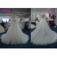 Buy cheap Women Long Sleeve Lace Wedding Dress , Organza Tulle Wedding Dressing Gowns from wholesalers