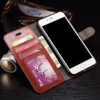 Buy cheap Wallet Stand Leather Protective Case , Anti - Dirt Iphone 7 Plus Leather Wallet Case from wholesalers