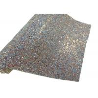 Elastic Fabric Backing Silver Glitter Fabric Soft And Sparkle Material