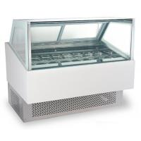 Buy cheap 240V/50Hz Ice Cream Cake Display Freezer , Air Cooling Ice Cream Fridge with 1800mm Length product