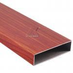 Buy cheap 6063 aluminum tube beam wooden grain profile from wholesalers