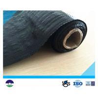 Black Acids Resistant Woven Geotextile Fabric / Polypropylene Black Woven Stabilization Fabric