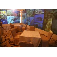 Buy cheap Custom Size Projection Screens 4.5 x 50m Economic Fabric Black Border from wholesalers