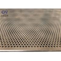 Buy cheap Mild Steel 5mm Hole 2mm Pitch Perforated Metal Cladding Panels With Galvanized Coated from wholesalers