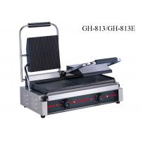 Buy cheap Stainless Steel Contact Griller Single / Double Heads Sandwich Grill Machine from wholesalers