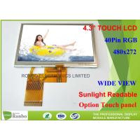 Buy cheap TFT LCD Sunlight Readable Outdoor Display , 4.3 Inch Sunlight Readable Lcd Module 480 * 272 from wholesalers
