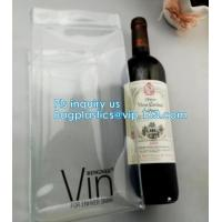 Buy cheap Ice gel pack PVC Can bottle wine cooler bag, Promotional PVC Ice bag for wine, recyclable clear tall PVC wine ice bag from wholesalers
